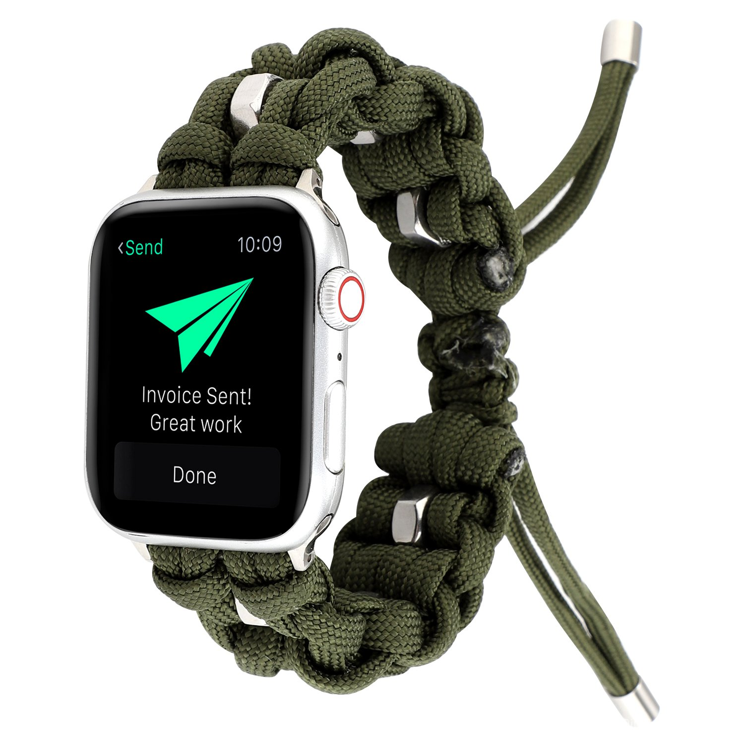 Outdoor Sports Woven Nylon Rope Bracelet Strap for Apple Watch Band SE 6 40mm 44mm iWatch Series 5 4 3 2 1 38mm 42mm Wri