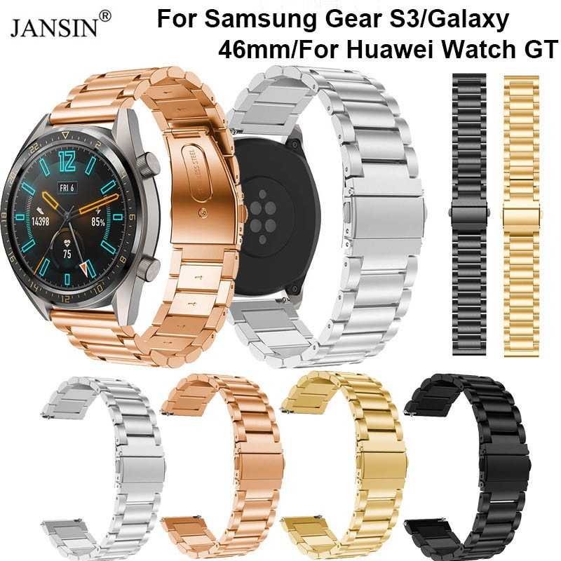 22mm Wrist band Huawei Watch GT Strap Replace Samsung Gear S3 Frontier  Classic Stainless steel watch band