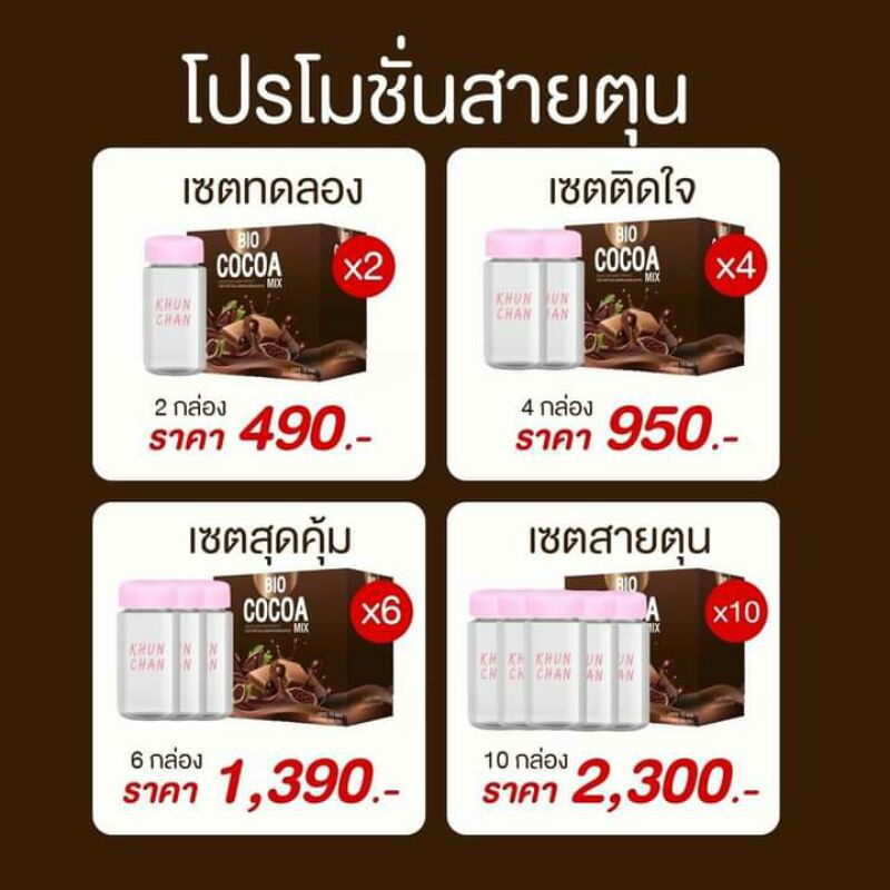 โปร 2.2 พร้อมส่ง❕Bio cocoa โกโก้คุณพราว