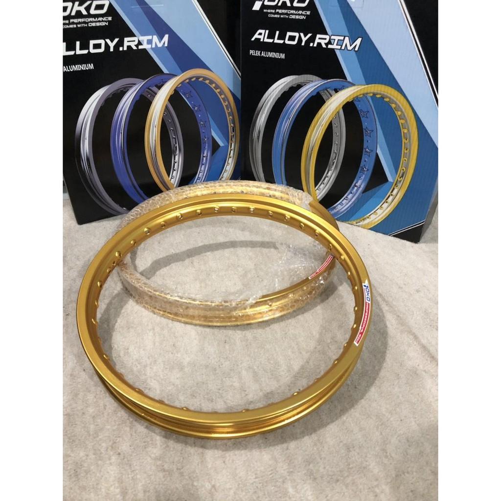YOKOวงล้อโยโก YOKO สีทองอ่อน Light Gold อลูมิเนียม ขอบเรียบ 1.40 ขอบ 17 ของแท้ (yoko สีทองอ่อน)