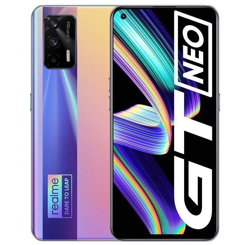โทรศัพท์มือถือสมาร์ทโฟนโทรศัพท์มือถือโนเกียจอสัมผัส[ร้านค้าแนะนำ] realme GT Neo สมาร์ทโฟน 5G อัจฉริยะ Dimensity 1200
