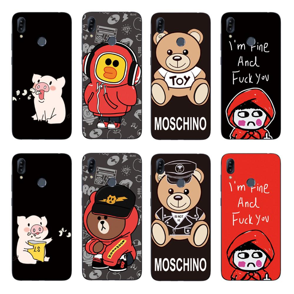 Review Cute Red Hat Girl Back Cover Asus Zenfone Max Pro M2 ZB631KL / ZB633KL Soft TPU Case