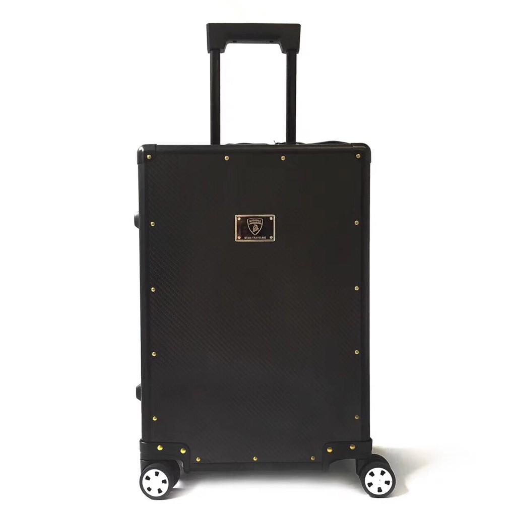 LAMBORGHINI CABIN TROLLEY SUITCASE กระเป๋าเดินทางล้อลาก สีดำ แลมโบกินี่ 2018