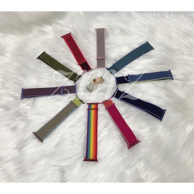 สาย applewatch แท้ สาย applewatch สายนาฬิกา Apple watch / Smartwatch 42/44mm 38-40mm สายไนลอน Smart watch W55  P90