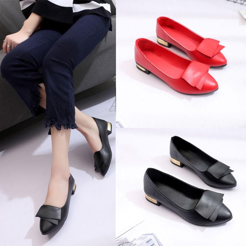 🍉🍉พร้อมส่ง🍉🍉รองเท้าคัชชูหัวแหลม  รองเท้านักเรียนผู้หญิง รองเท้านักเรียนผู้หญิง รองเท้า 35-40 หลา
