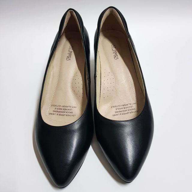 St. Jame รองเท้าคัชชูสีดำ