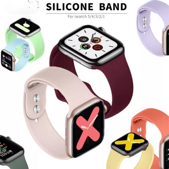 สายนาฬิกาข้อมือ 17 Warna ! ! เกรด A + สายคล้อง Applewatch Sportband ( Series 1-4