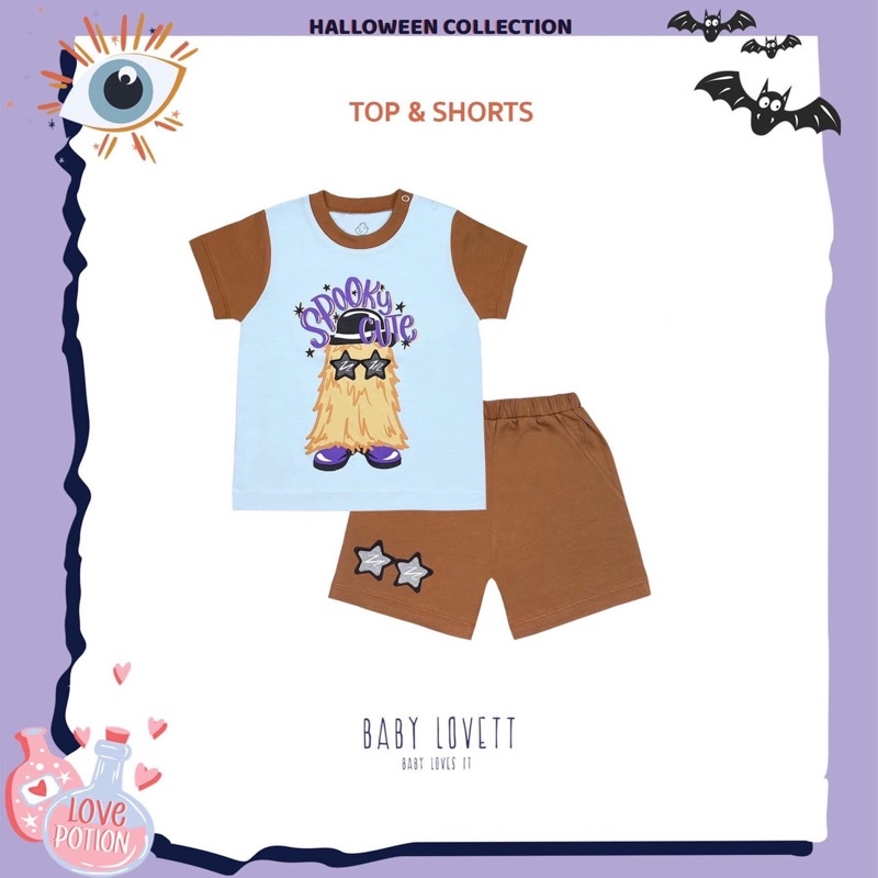 BabyLovett Halloween Top and Shorts 2T