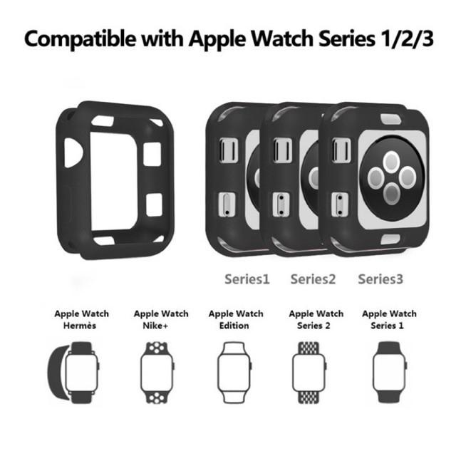 เคส applewatch (พร้อมส่ง) เคสกันกระแทก Apple Watch สีดำ
