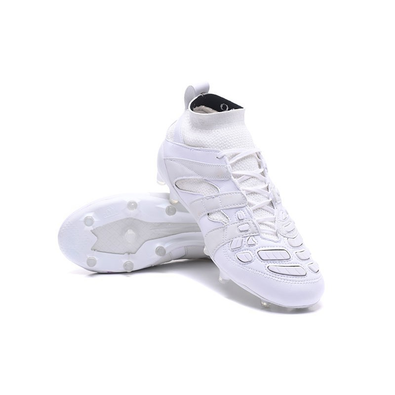 Adidas Predator Accelerator FG Beckham แคปซูลสีขาว 52รองเท้าพิเศษ