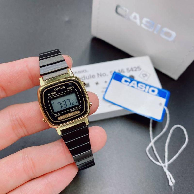 นาฬิกาข้อมือ casio นาฬิกาผู้หญิง สายสแตนเลส แถมพร้อมกล่อง