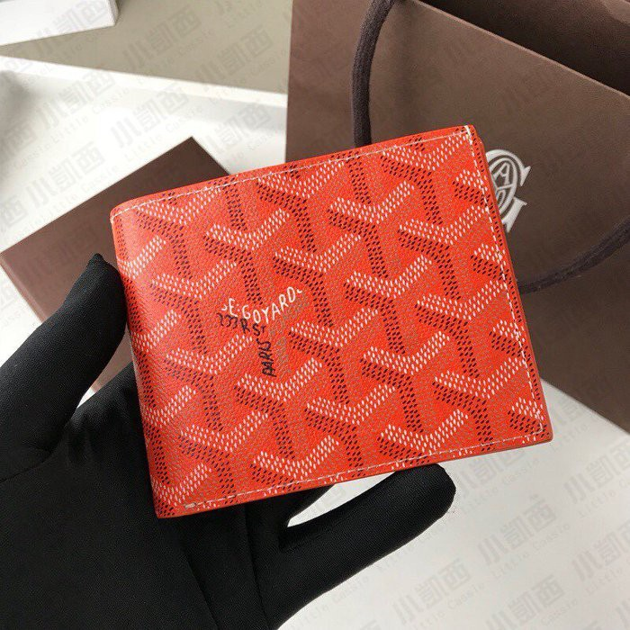 [ML]	Shoppe แบรนด์ใหม่ของแท้ GOYARD Ladies Lady Bag Cowhide Half-fold Short Clip Wallet Eight Card Slots