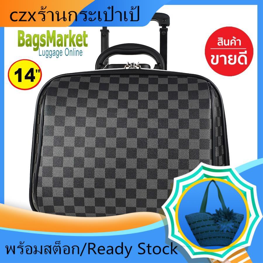 กระเป๋าเดินทางล้อลาก กระเป๋าเดินทาง กระเป๋าเดินทางใบเล็ก Sun POLO กระเป๋าเดินทางล้อลาก 14 นิ้ว L-Pattern Grey Classic Co