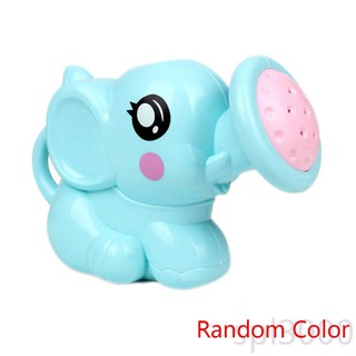 SPL-Random Color Newborn Plastic Elephant Watering Pot Bath Toys Baby Swimming Bathroom Bath Shower Tool Water Spray