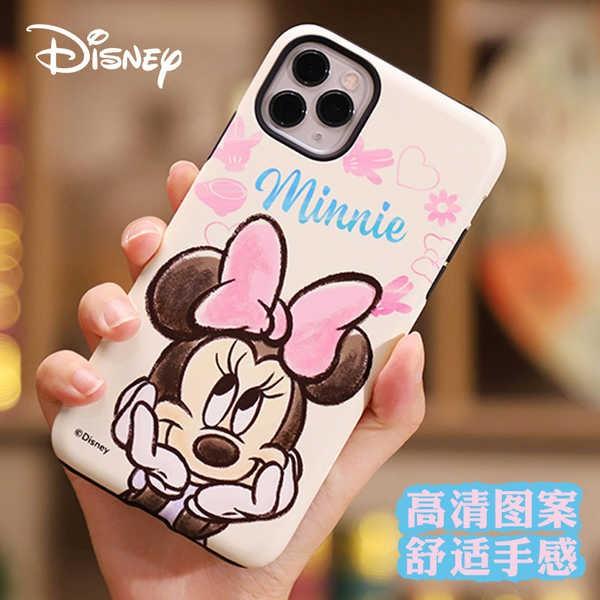 เคสโทรศัพท์ iphone 11 pro max ฝาครอบโทรศัพท์มือถือ Disney iphone12 11PRO มิกกี้มินนี่ XS Apple MAX สองชั้นมินิป้องกันการ