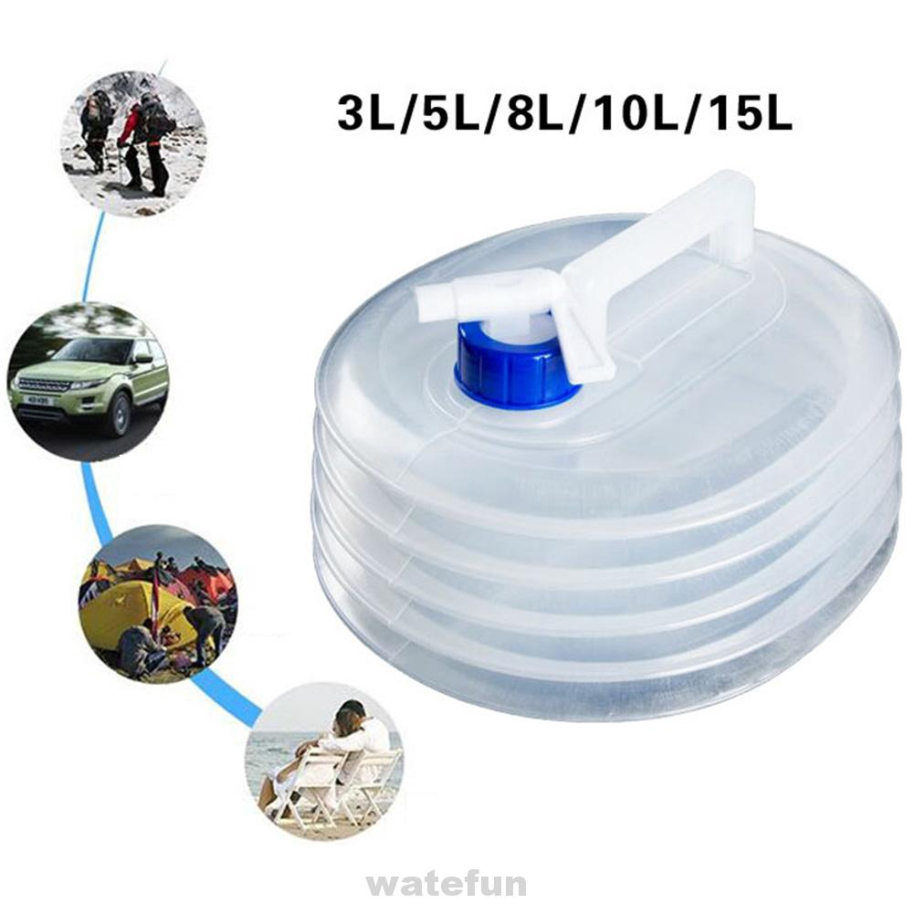 3L Folding Outdoor Camping Handle Collapsible Water Bucket Bottle Container