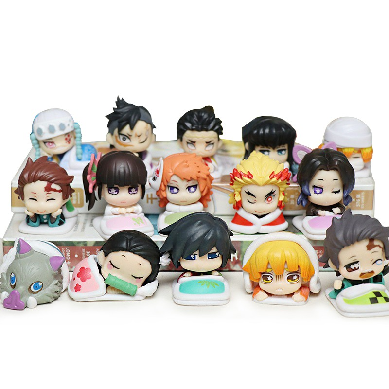 5cs /Set Kimetsu no Yaiba Figure Tsuyuri Kanawo Kochou Shinobu Rengoku Kyoujurou VC Demon Slayer Collection Toys