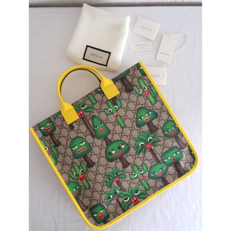 Children's GG cactus tote bag (33cm) แท้