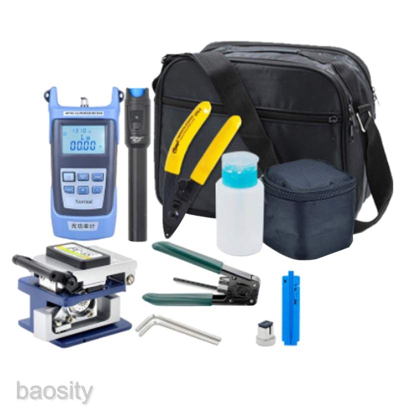 [BAOSITY] Fiber Optic FTTH Tool Kit, Fiber Cleaver Optical Power Meter Cable Stripper