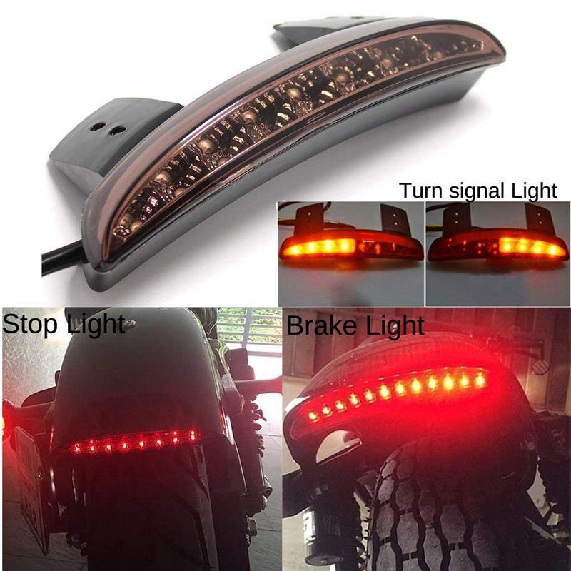 Motorcycle 8 LED Chopped Fender Edge Running Brake Tail Light For Harley XL 883N