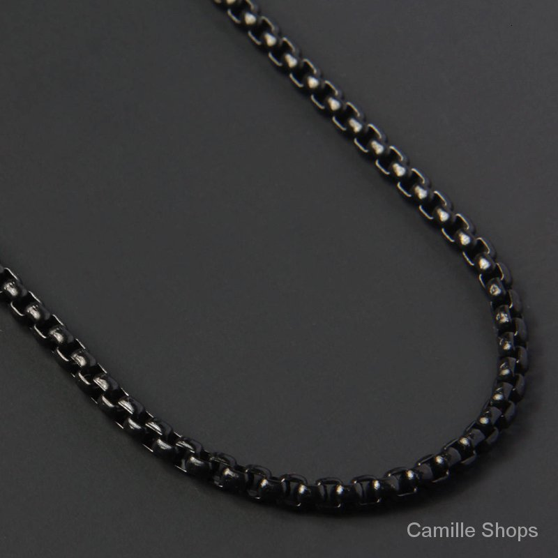 2020 Fashion New Figaro Chain Necklace Men Stainless Steel Gold Color Long Necklace For Men Jewelry Gift Collar Hombres ลดเหล อ 936