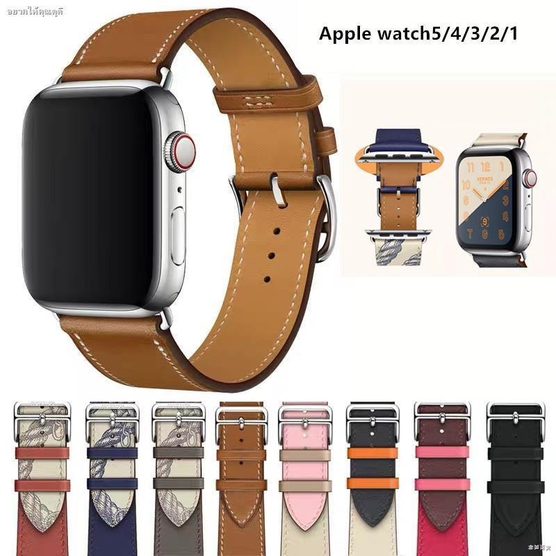 พร้อมส่งจากไทย!สาย Apple watch ทุกSeries SE 6/5/4/3/2/1 สายหนัง Leather Band