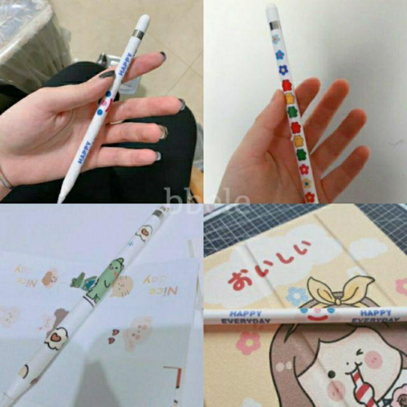 sQCk ♡พร้อมส่ง#2 • Gen.1&2 film สติ๊กเกอร์ สติกเกอร์ sticker หุ้ม ตกแต่ง cover ปากกา apple pencil gen.1 & 2 ฟิล์ม กันรอย
