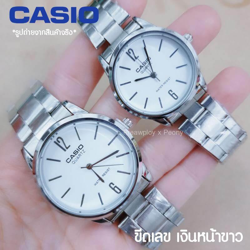 นาฬิกาคู่รัก นาฬิกาคู่ casio สายสแตนเลส ***สินค้าใหม่