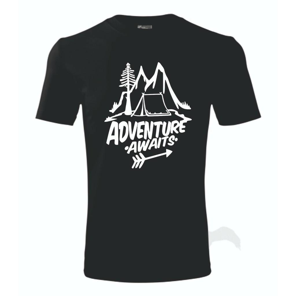 Tourist Hike Mountain Camping Travel Nature Man Boy T-Shirt