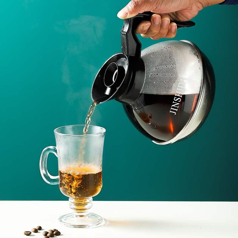 わЁหม้อต้มกาแฟเครื่องชงกาแฟมือMoka pot หม้อต้มกาแฟทำมือสองวาล์วทำอาหารในครัวเรือนชุดแก้วแขวนหูเครื่องใช้ชงชาจิ๋ว