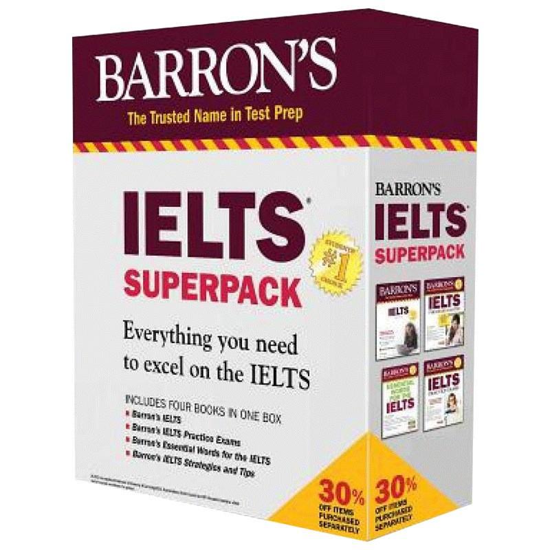 Hot Books Barron ' S Ielts Superpack 4 English Original Barron ' S Ielts หนังสือฉบับภาษาอังกฤษ