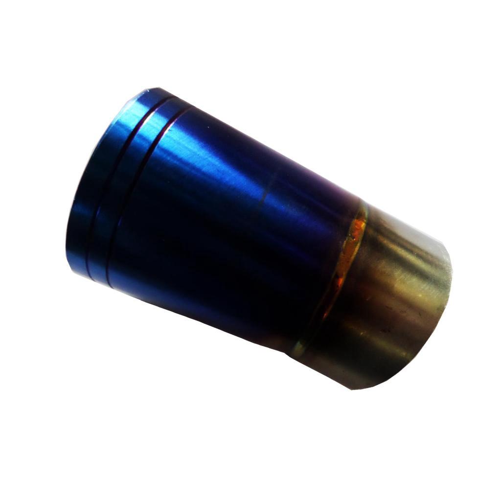 อะไหล่มอเตอร์ไซค์ ปลายท่อ กรวยปลายท่อเลสสีไทเทเนียมลายสำหรับรถW100=125=110i ขนาด 1.4X1.6 นิ้ว สีตรงตามรูปะไหล่มอเตอร์ไซค