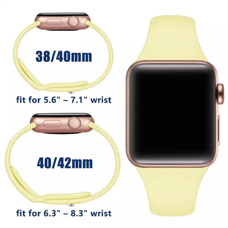 👍✅💯☄READY STOCK* พร้อมส่ง‼️สาย สําหรับ Apple Watch สีมาใหม่ series 6 5 4 3 2 1 สำหรับapplewatch ขนาด  42mm 44mm 38mm