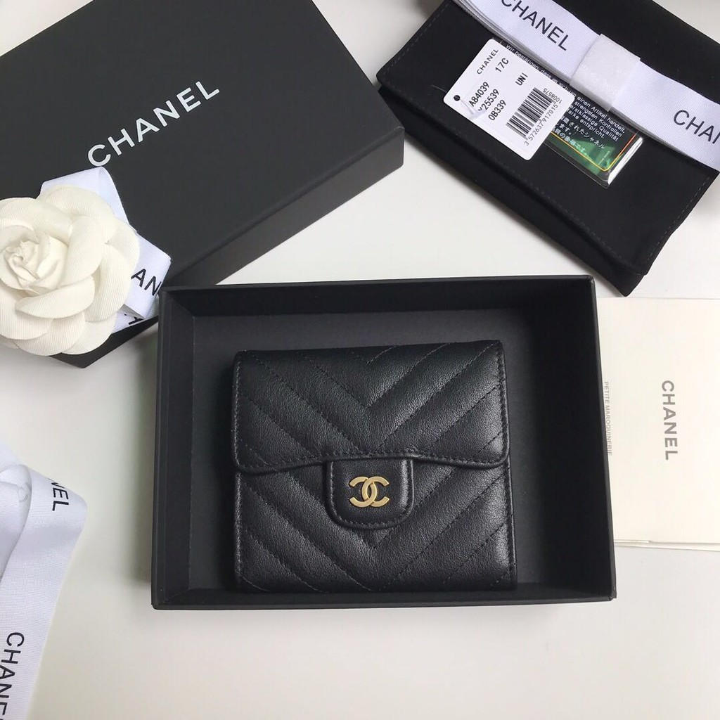 【New Coming!!】Chanel Lady's 2020 new four color embossed calfskin classic small Flap Wallet