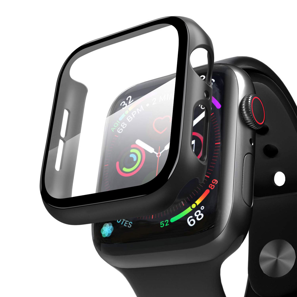 2In1 High Quality Full Cover Tempered Glass Screen Protector Case For Apple Watch iWatch Series 6 5 4 38Mm 42Mm 40Mm 44Mm