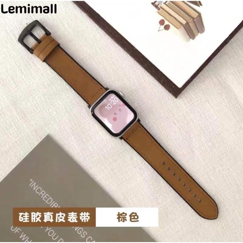 สายนาฬิกา# สาย สำหรับ AppleWatch แบบ หนัง  38/40, 42/44 mm. Series 6 /5/4/3/2/1 series SE สายหนังแบบใหม่!!!