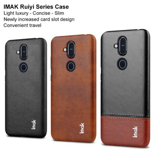Review Imak ruiyi เคสหนัง PU สำหรับ Nokia 8.1 / X7 / 7.1 Plus Hard PC Back Cover