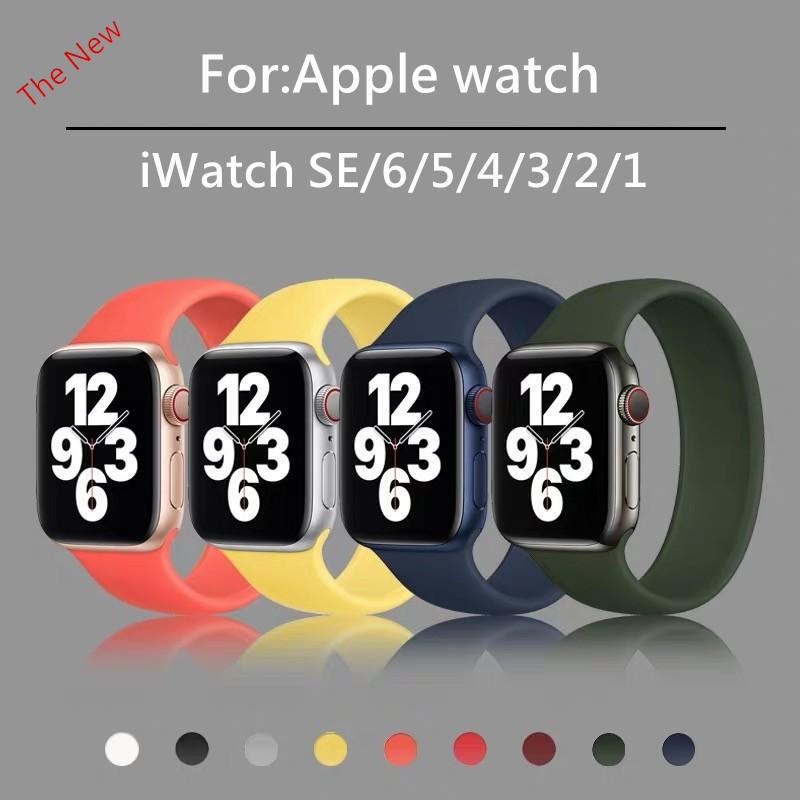 พร้อมส่งจากไทย!สายApple WatchSE Series 6/5/4/3/2/1 สายแอปเปิ้ลวอช ขนาด 38mm/40mm/42mm/44mm