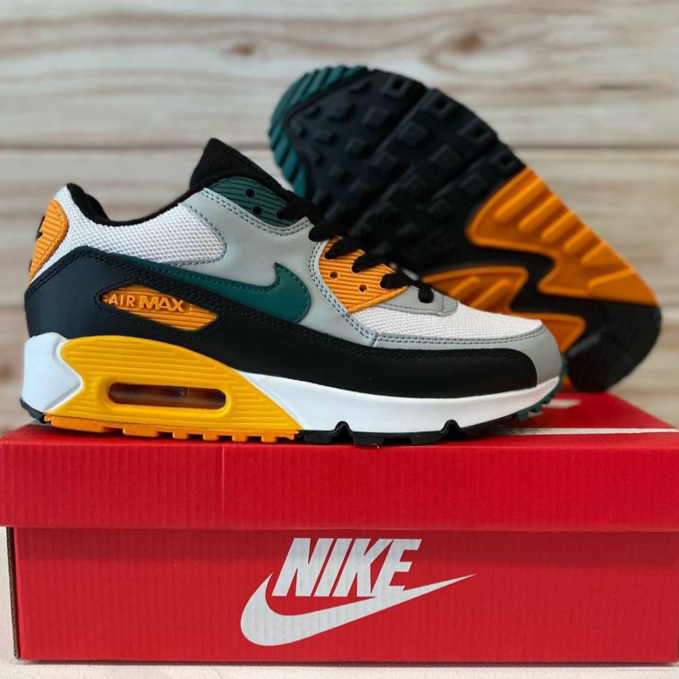 Original รองเท้า Nike Air Max 90 Essential Appears In Teal And Golden Yelllow ✅มีเก็บเงินปลายทาง
