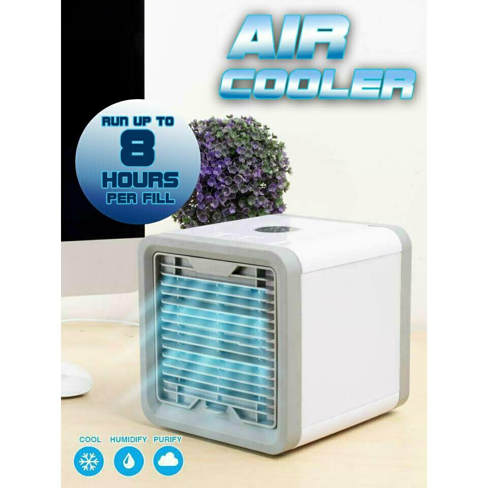 ﹊✗❁ARCTIC AIR พัดลมไอเย็นตั้งโต๊ะ พัดลมไอน้ำ พัดลมตั้งโต๊ะขนาดเล็ก เครื่องทำความเย็นมินิ แอร์พกพา Evaporative Air-Cooler