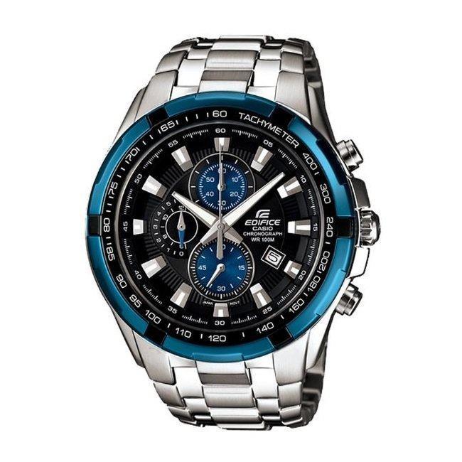 Casio Edifice นาฬิกาข้อมือผู้ชาย สายสแตนเลส EF-539D-1A2VDF Black/Blue