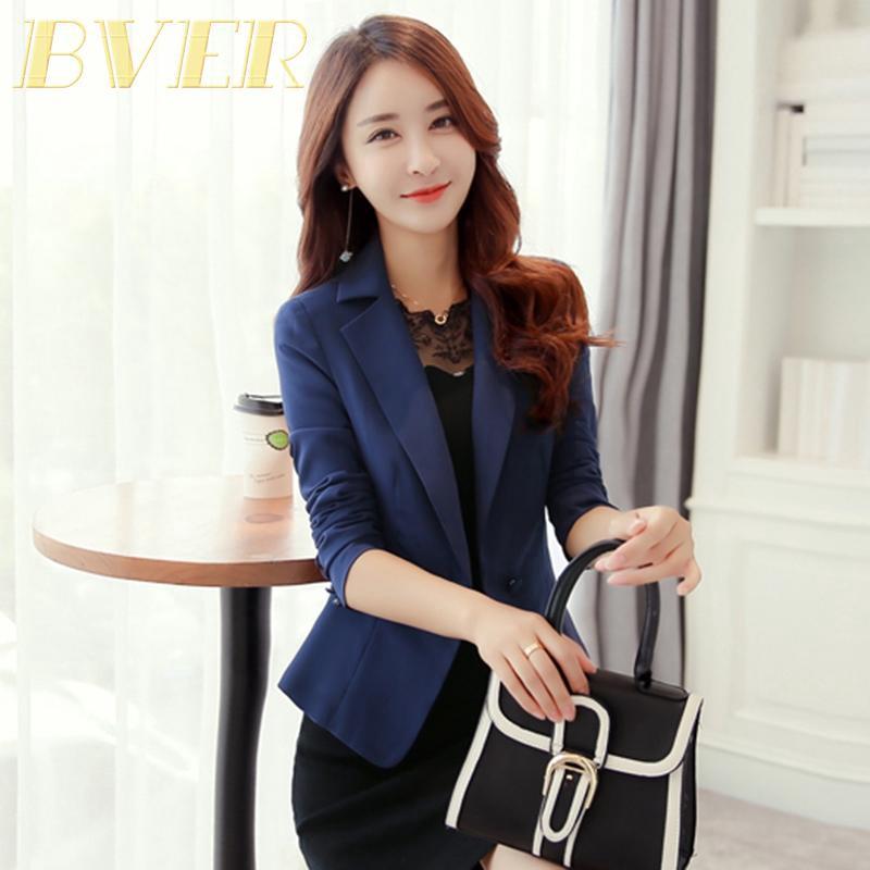 Women One Button Lapel Slim Casual Business Formal Blazer Suit Jacket Coat S-3XL