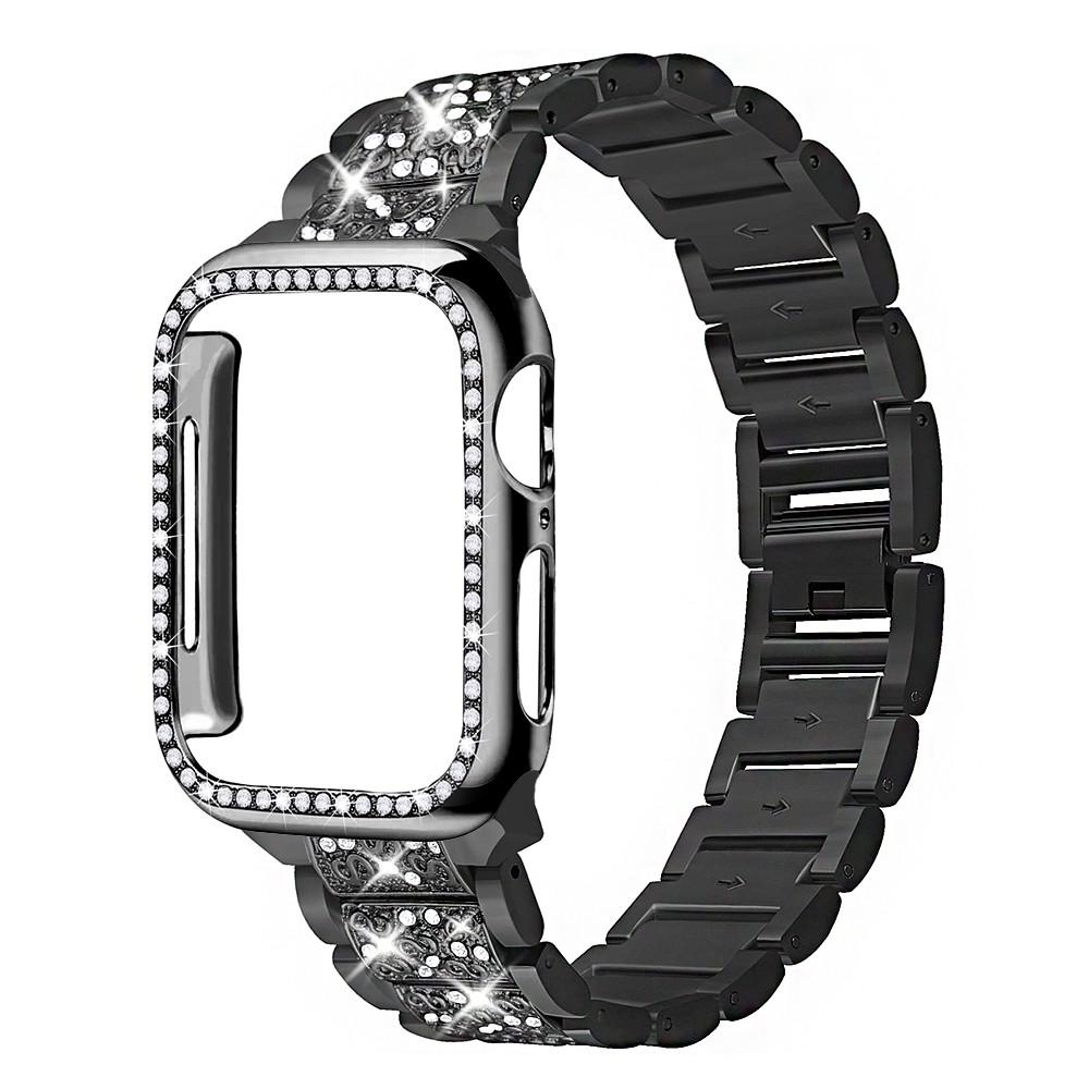 Apple Watch สายนาฬิกา + เคส รูปสี่เหลี่ยมขนมเปียกปูน สาย applewatch Diamonds Straps for Apple watch Series 1/2/3/4/5/6 ,