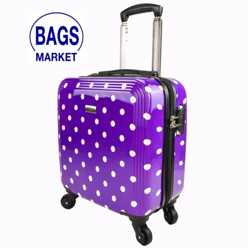 กระเป๋าเดินทางล้อลาก Luggage Wheal  16 นิ้ว 4 ล้อ หมุนรอบ 360° Polycarbonate Deluxe D กระเป๋าล้อลาก กระเป๋าเดินทางล้อลาก