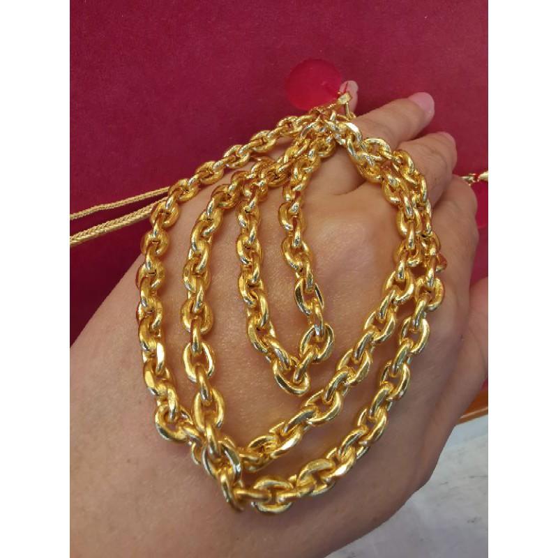 สร้อยคอทองแท้ 96.5%  น้ำหนัก 2บาท ยาว 31cm-33.5cm  ราคา 55,800บาท