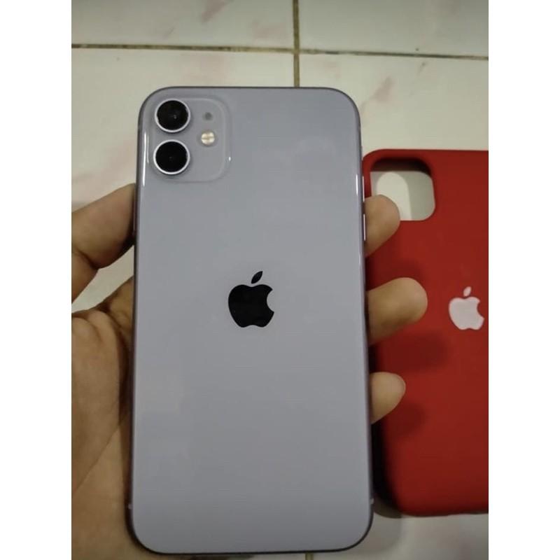 ไอโฟน11 สีม่วง 64gb ประกันเหลือสภาพสวยมากเครื่องนอกแท้