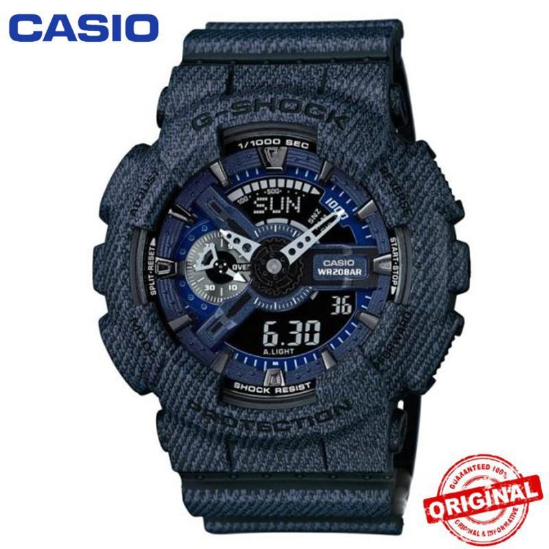 จุด (ขายลดราคา) Casio G-Shock เดิมแท้ GA110 Blue นาฬิกาข้อมือผู้ชายนาฬิกา