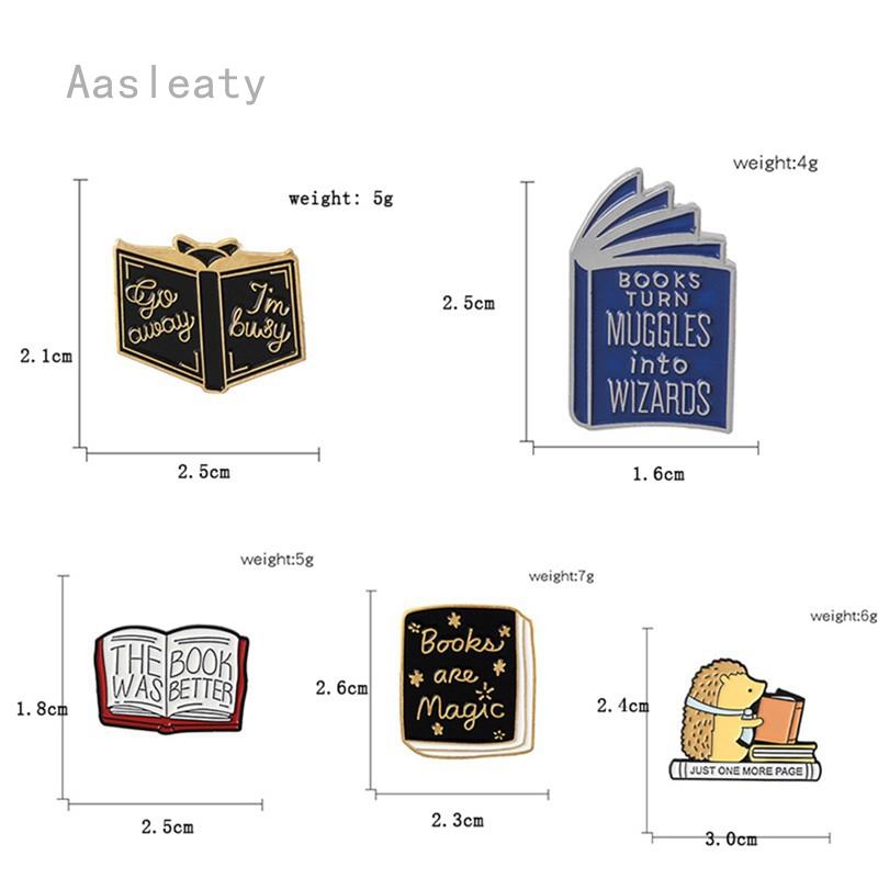 Aasleaty Style Books เข็มกลัดลายการ์ตูนเม่นสําหรับตกแต่งเสื้อผ้า