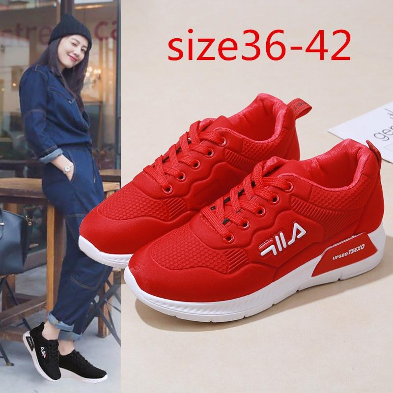 ✈✼▽Women's sneakers Filaรองเท้าผ้าใบแบรนด์เนมรองเท้ากีฬาผู้หญิงรองเท้าวิ่ง2 สี