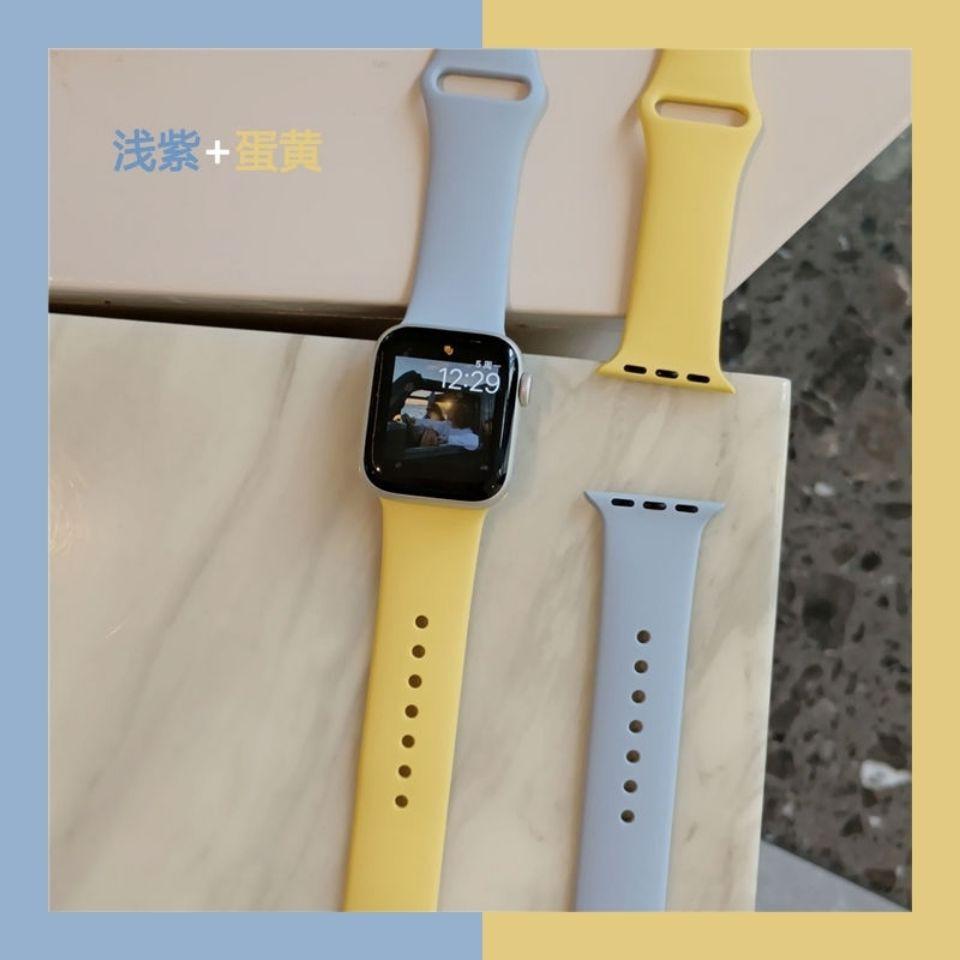 Adapt To Iwatch1-6 Generation Se สายนาฬิกาข้อมือซิลิโคนสองสี Applewatch4 44mm